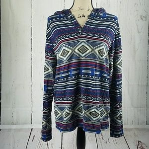 On the BYAS Aztec hoodie size l